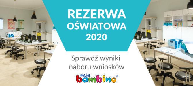 Rezerwa Oświatowa 2020 – wyniki V kryterium