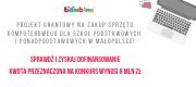 Projekt grantowy na zakup sprzętu komputerowego, Małopolska